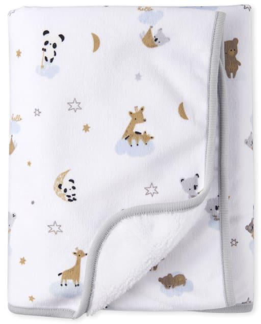 Unisex Baby Bear Print Cozy Blanket
