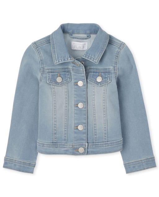 Toddler Girls Super-Soft Stretch Denim Jacket