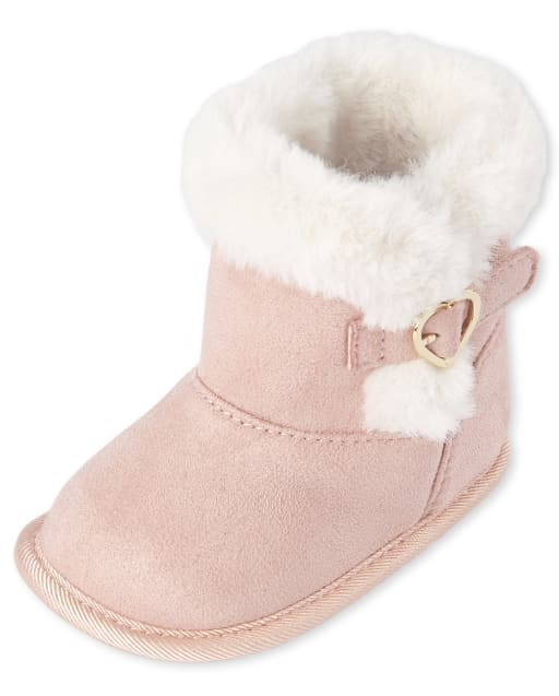 Baby Girls Faux Suede Booties