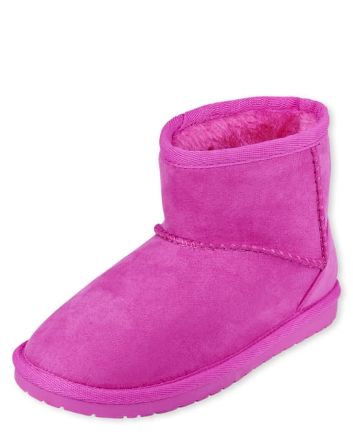 Girls Low Faux Suede Booties
