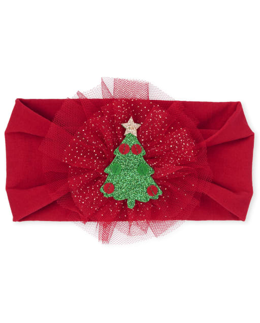 Baby Girls Christmas Tree Headwrap