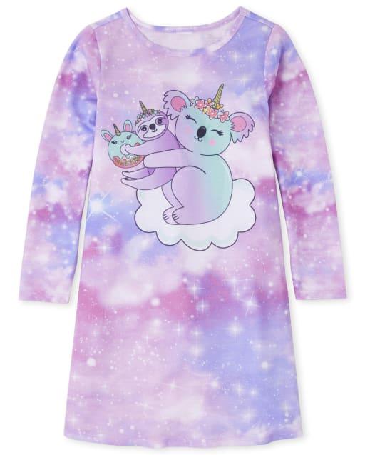 Girls Long Sleeve Koala Nightgown