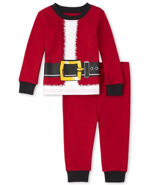 Unisex Baby And Toddler Matching Family Christmas Long Sleeve Santa Snug Fit Cotton Pajamas