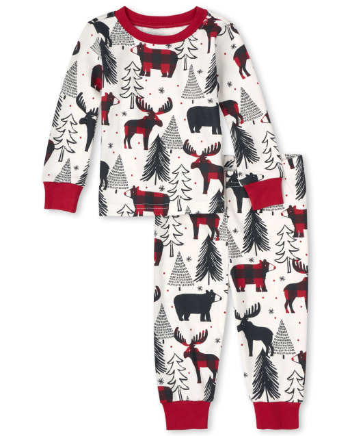 Unisex Baby And Toddler Matching Family Christmas Long Sleeve Winter Bear Snug Fit Cotton Pajamas