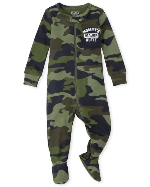 Baby And Toddler Boys Long Sleeve Camo Snug Fit Cotton One Piece Pajamas
