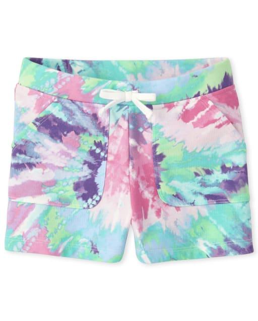 Shorts de felpa francesa con efecto tie dye