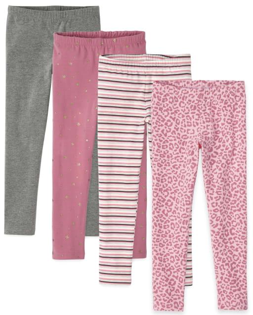 Girls Print Knit Leggings 4-Pack