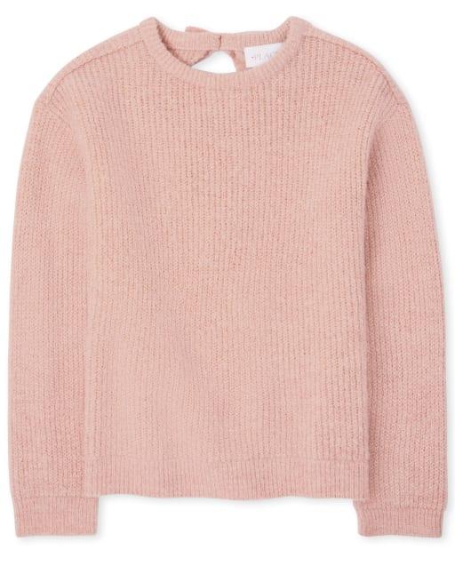 Girls Long Sleeve Tie Back Sweater