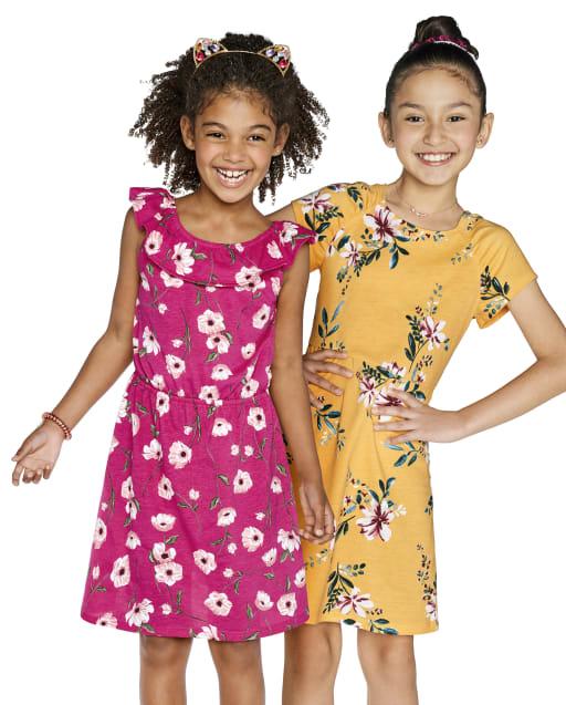 Paquete de 2 vestidos florales para niñas