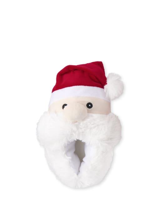 Unisex Toddler Christmas Matching Family Santa Slippers