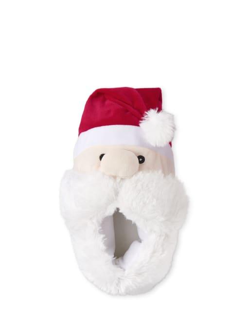 Unisex Kids Christmas Matching Family Santa Slippers