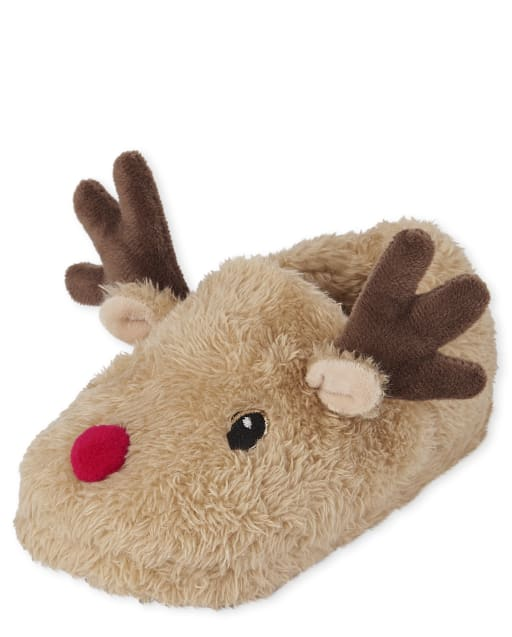 Unisex Toddler Christmas Matching Family Reindeer Slippers