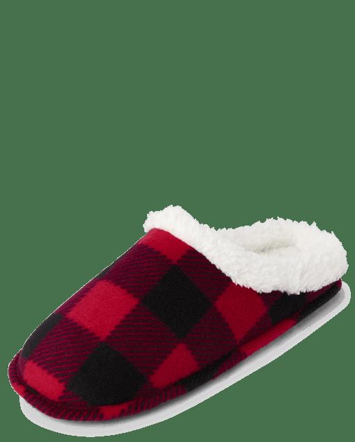 Unisex Adult Christmas Matching Family Buffalo Plaid Slippers