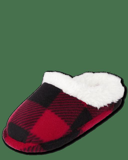 Unisex Toddler Christmas Matching Family Buffalo Plaid Slippers