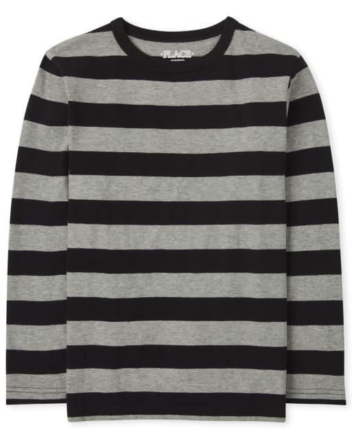 Boys Long Sleeve Striped Top
