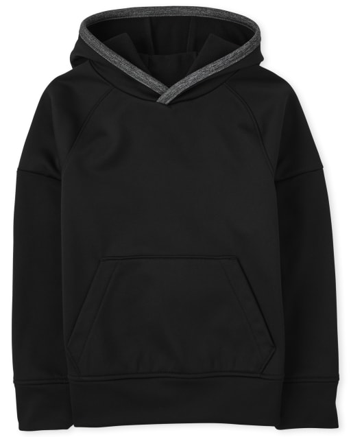 Boys Active Long Sleeve Knit Performance Hoodie