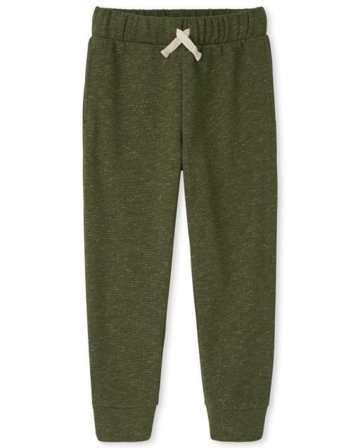 Boys Active Marled Fleece Pants
