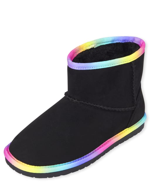 Girls Rainbow Low Faux Suede Booties