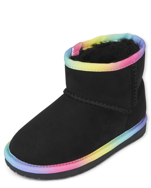 Toddler Girls Rainbow Low Faux Suede Booties