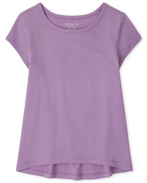 Camiseta básica de manga corta para niñas