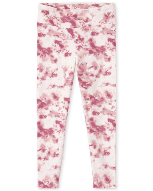 Girls Tie Dye Knit Hi-Rise Leggings