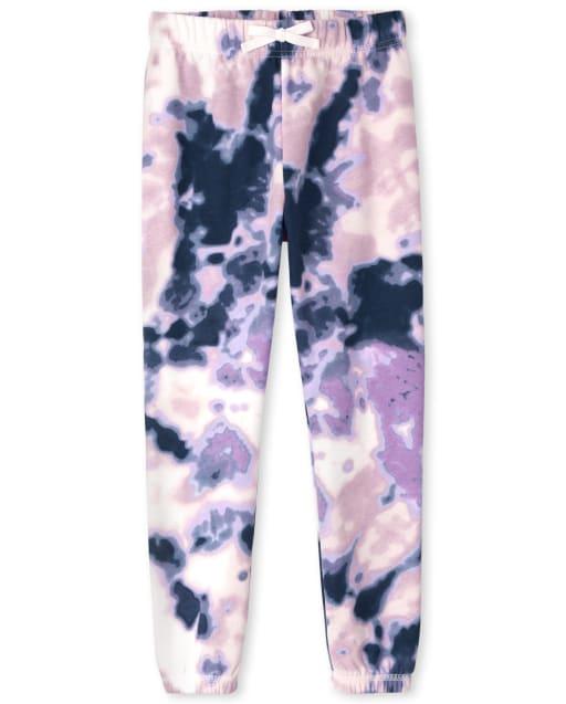 Pantalón jogger de felpa con efecto tie dye