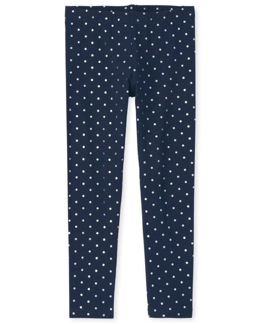 Girls Foil Print Knit Leggings