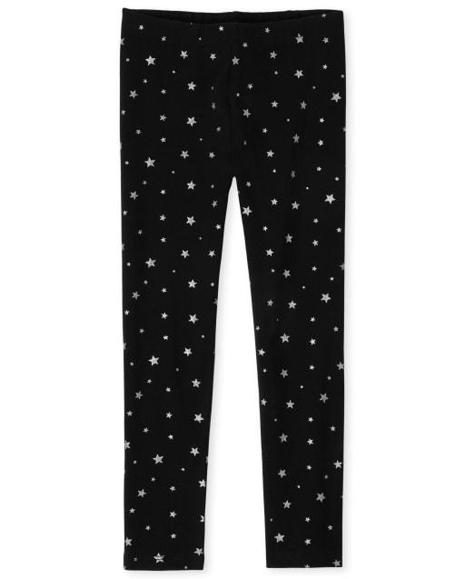 Girls Glitter Knit Leggings