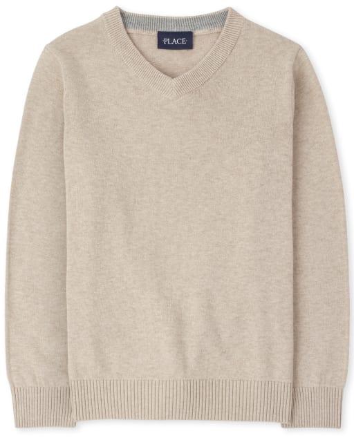 Boys Long Sleeve V Neck Sweater