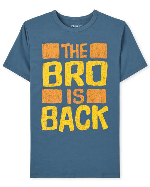 Boys Short Sleeve 'The Bro Is Back' Graphic Tee