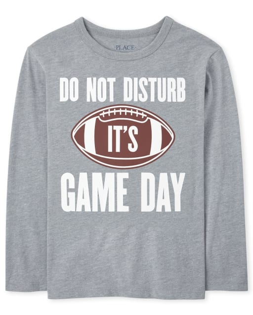 Boys Long Sleeve 'Do Not Disturb It's Game Day' Football Graphic Tee