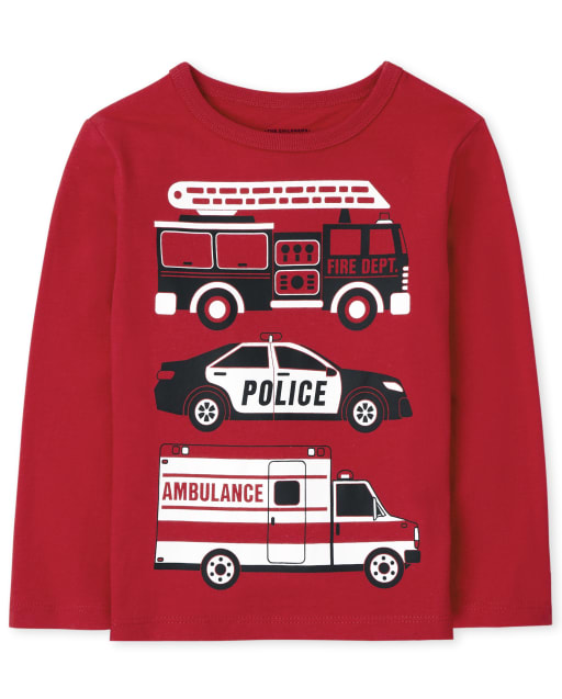 Baby and Toddler Boys Long Sleeve Vehicle Graphic Tee