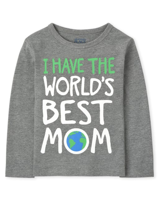 Baby and Toddler Boys Long Sleeve Best Mom Graphic Tee