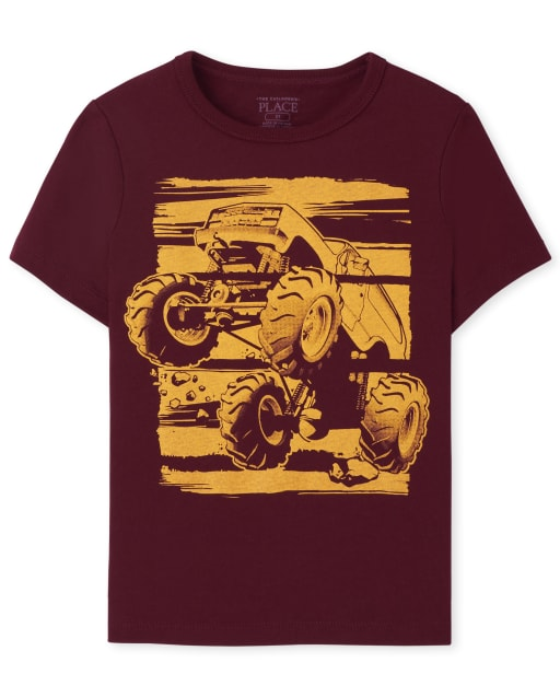 Baby And Toddler Boys Short Sleeve Monster Truck Graphic Tee