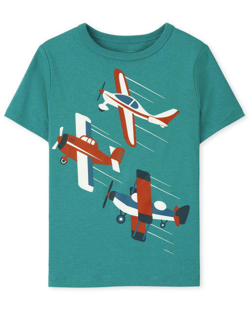 Baby And Toddler Boys Short Sleeve Airplanes Graphic Tee