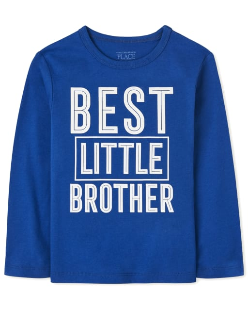 Baby And Toddler Boys Long Sleeve Best Little Brother Graphic Tee