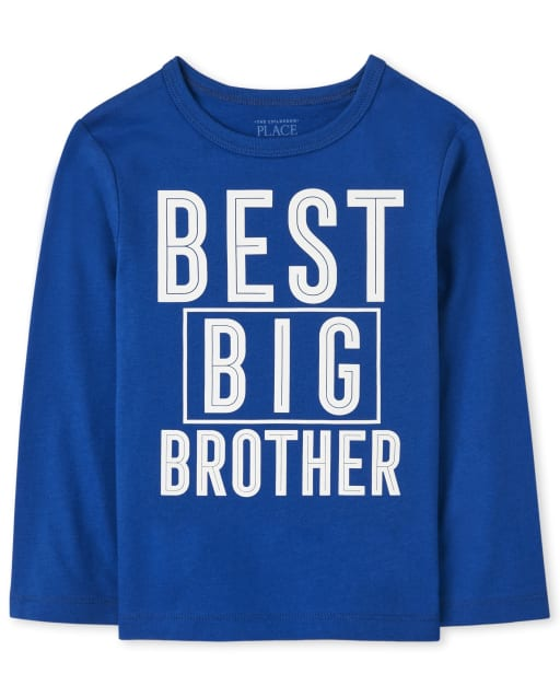 Baby And Toddler Boys Long Sleeve Best Big Brother Graphic Tee