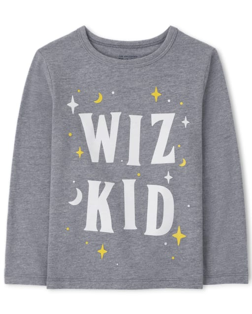 Baby And Toddler Boys Long Sleeve Wiz Kid Graphic Tee