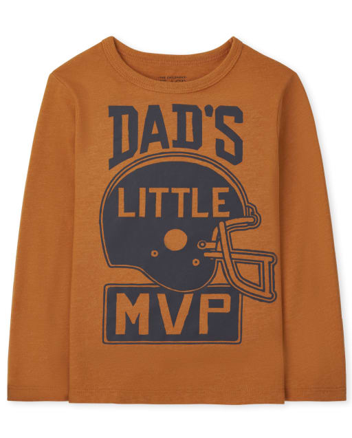 Baby And Toddler Boys Long Sleeve Dad's MVP Graphic Tee