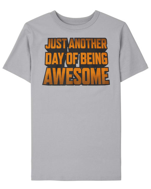 Boys Short Sleeve Awesome Graphic Tee