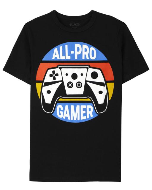 Boys Short Sleeve All-Pro Gamer Graphic Tee