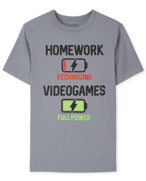 Boys Short Sleeve Videogames Graphic Tee