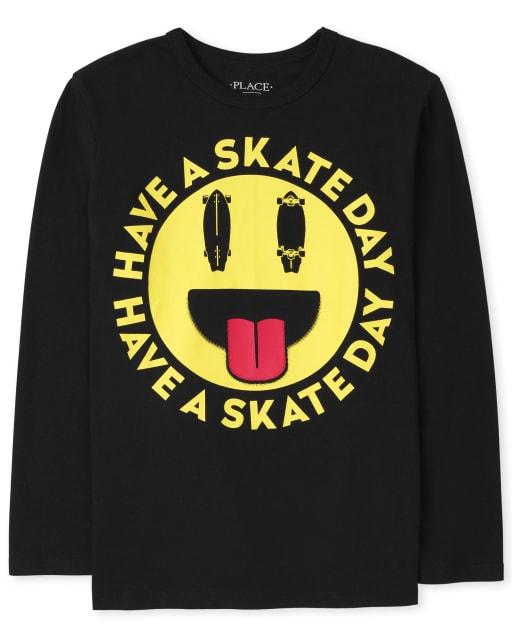 Boys Long Sleeve Skate Day Graphic Tee
