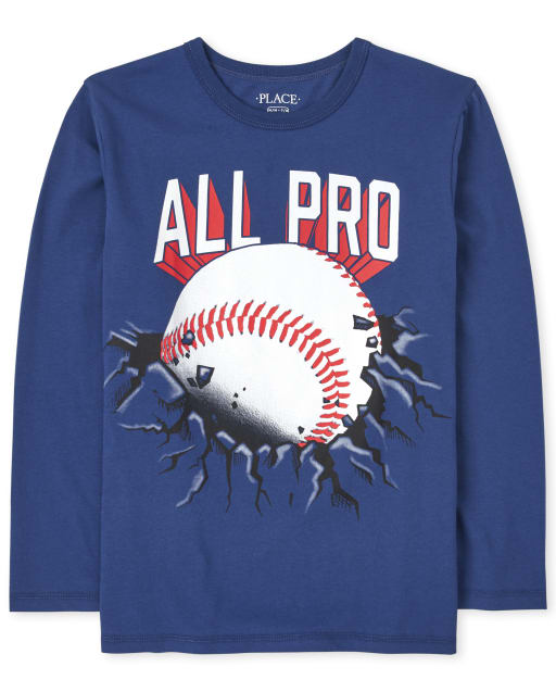 Boys Long Sleeve All Pro Baseball Graphic Tee
