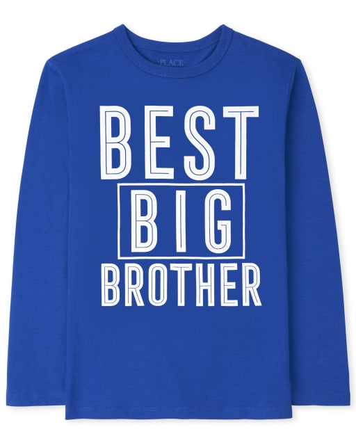 Boys Long Sleeve Best Big Brother Graphic Tee