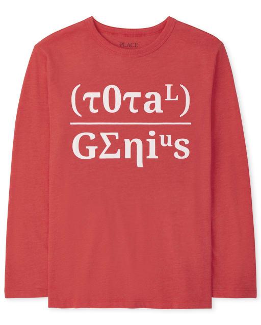 Boys Long Sleeve Total Genius Graphic Tee