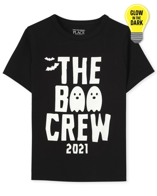 Unisex Toddler Matching Family Short Sleeve Glow In The Dark Boo Crew Graphic Tee