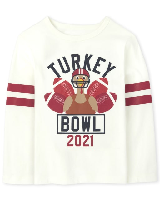 Unisex Baby And Toddler Matching Family Long Sleeve Turkey Bowl Graphic Tee