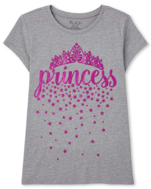 Girls Short Sleeve 'Princess' Graphic Tee