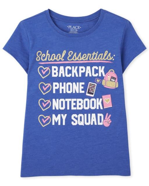 Camiseta ' School Essentials ' manga corta para niñas